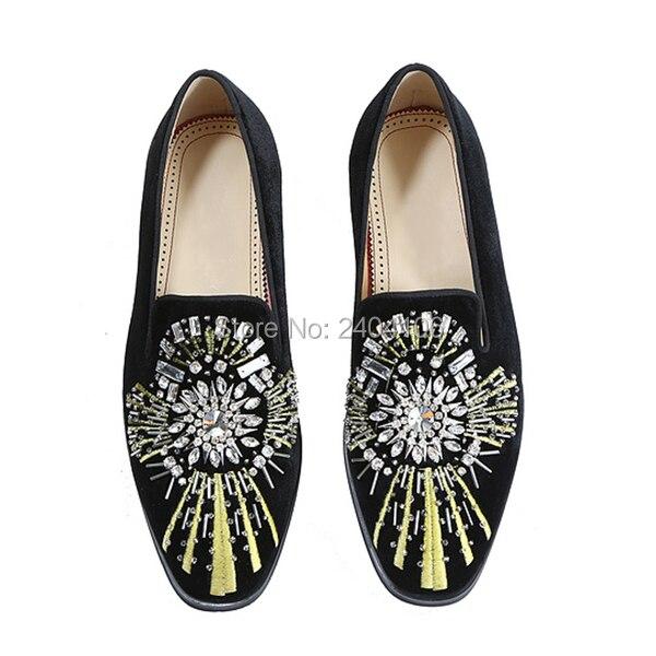 Em Sapatos Zapatos Homens Mocassins Prom Brilho Diamante Pic Pic De Apartamentos Casamento Size Dos Qualidade 46 Plus Alta As Deslizamento Casuais Hombre Bordados as Vestido 38 raqPrz