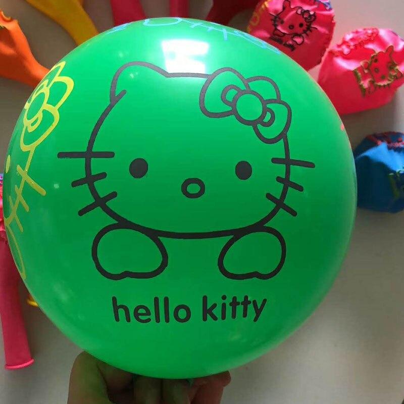 Hello kitty balloon 50pcs lot 12inch latex mixed ballons party decorations baloons carton birthday party decorations babyshower in Ballons Accessories from Home Garden
