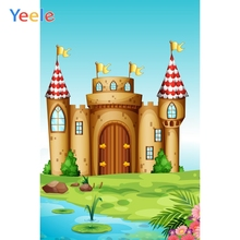 Yeele Circus Party Photocall Cartoon Castle River Photography Backdrops Personalized Photographic Backgrounds For Photo Studio