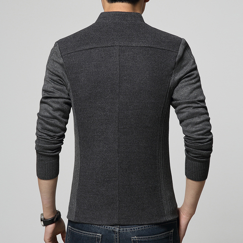 2018 nuevo Mens Blazer Patchwork trajes para hombre de calidad - Ropa de hombre - foto 2