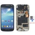 Azul original para samsung galaxy s4 mini i9190 i9195 lcd screen display touch digitalizador asamblea con marco + herramientas de envío gratis
