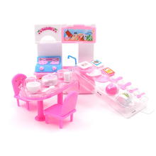 21pcs/set Doll Accessories DIY Kitchen Cook Playset for 30cm Dolls Mini Furniture House Tableware Toys For Girls