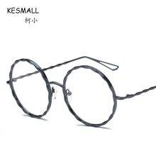 KESMALL 2018 Eyeglasses Frame Men Women Alloy Myopia Glasses Frames Lunette  Ronde 5237c7459c60