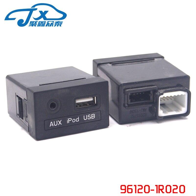 JXZT AUX et USB Jack Assy Genuice Partie Pour Elantra 2014 2015 961203X250 OEM nouveau 1 pc AVANTE OEM AUX iPod USB 2.0 1.8 MD