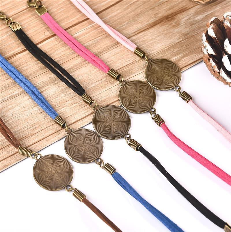 20pcs/Lot 20mm Leather Bracelet Blanks Base Setting For Round Cabochon Bezels Tray DIY Bangle Jewelry Making Findings
