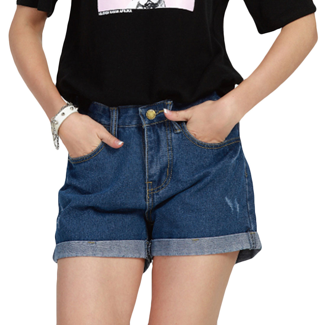 Sexy Mini Jeans Shorts female summer 2017 large size women fat MM loose lipped casual Denim