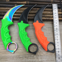 CS GO Counter Strike Claw Karambit Knife Sharpen Neck Knife With Sheath Tiger Tooth Real Game