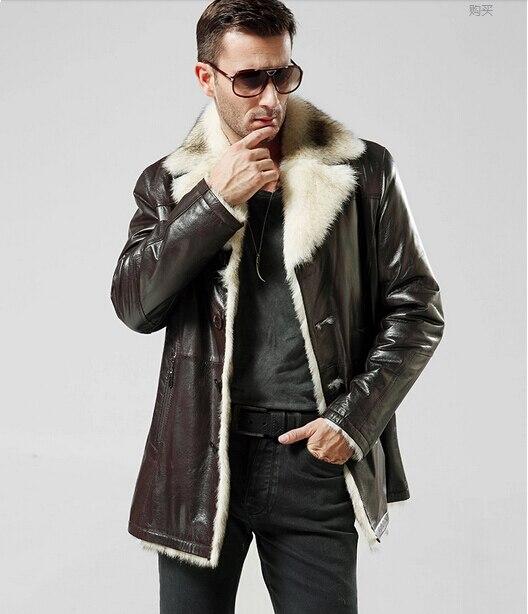 Wolf Fur Coat >> Genuine Fur Jacket Windproof Natural Wolf Fur The Coat Of Men The