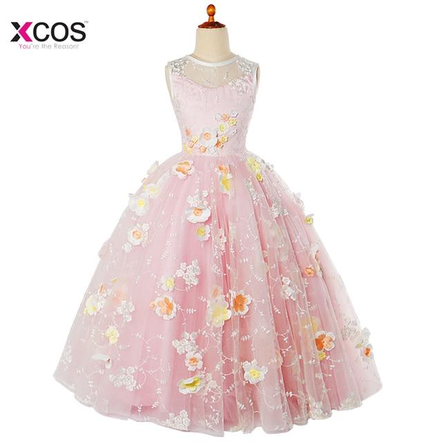 Lovely Cute New Arrival 2017 Mgs Ball Gown Crepe Flower Dresses For Wedding Full Flowers