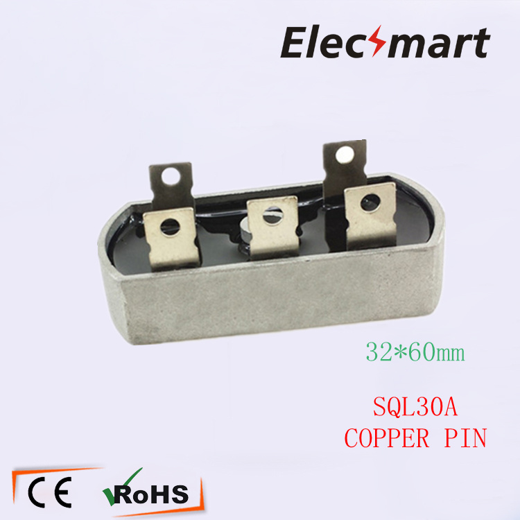 Copper Pin SQL30A 3P Three Phases  Bridge Diode  Rectifier  32*60mm 2PCS/Lot