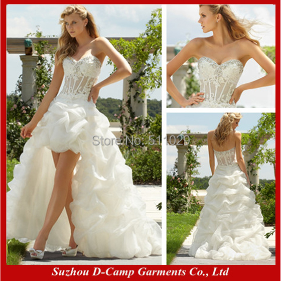 Wd 696 New Arrival See Through Corset Wedding Dress Front Short And