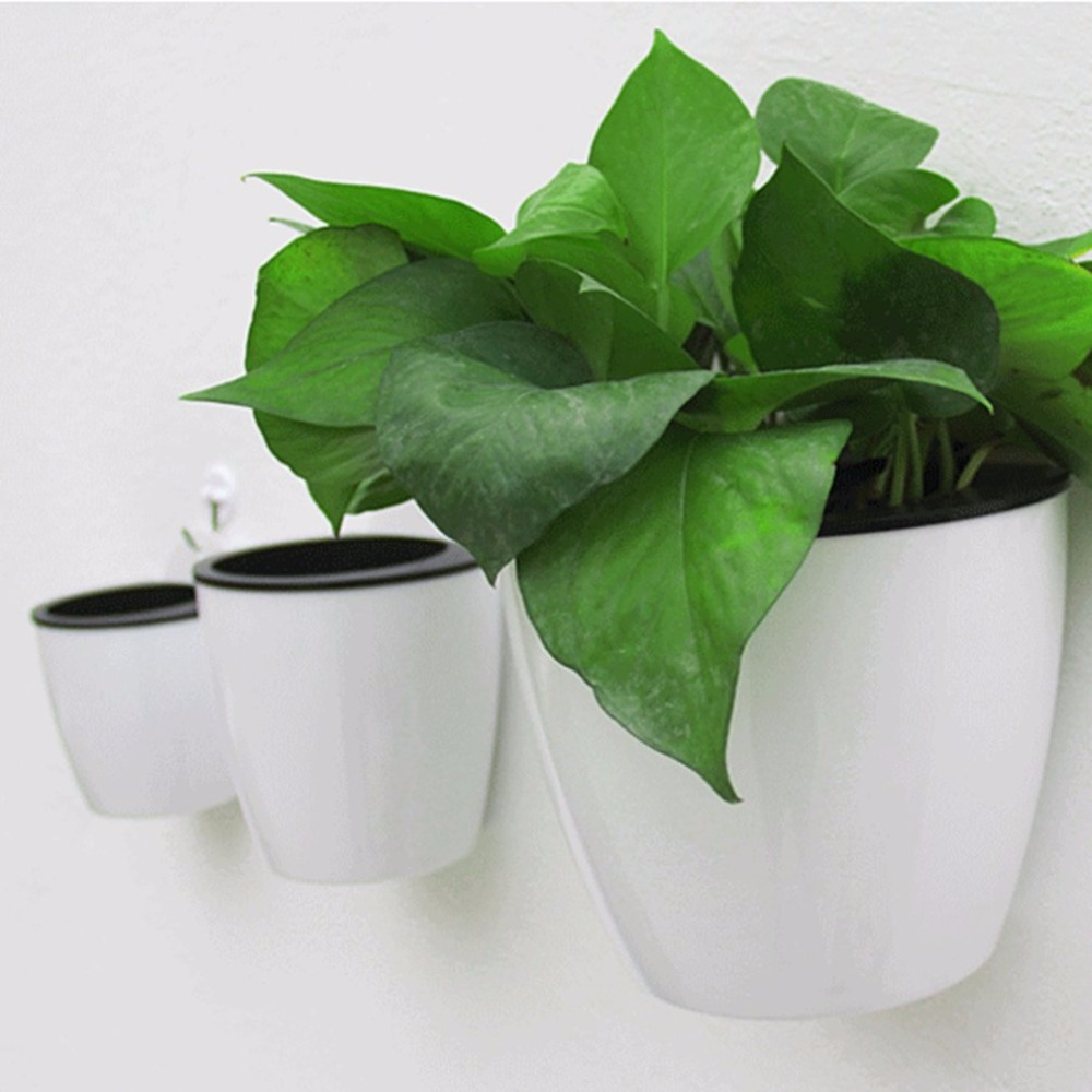 Modern Design Home Wall Hanging Design Flower Pot Round Shape Resin Hydroponics Chlorophytum Potted Flower Pots Drop
