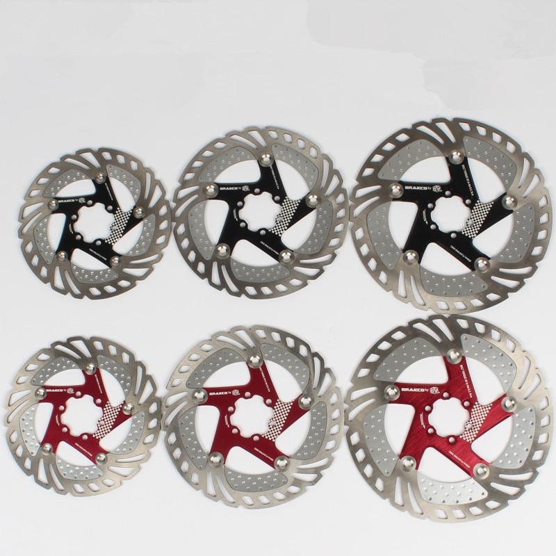 BRAKCO БР-11FA МТБ тормозные роторы 160 мм /180 мм /203 мм велосипед охлаждать тормозные диски велосипед аксессуары 2 цвета