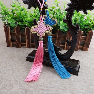 Image 2 - Tassel Craft Knot Car Ornaments Tassel Pendant Crafts Auto Rearview Mirror Ornament Hanging Car Decoration Pendant