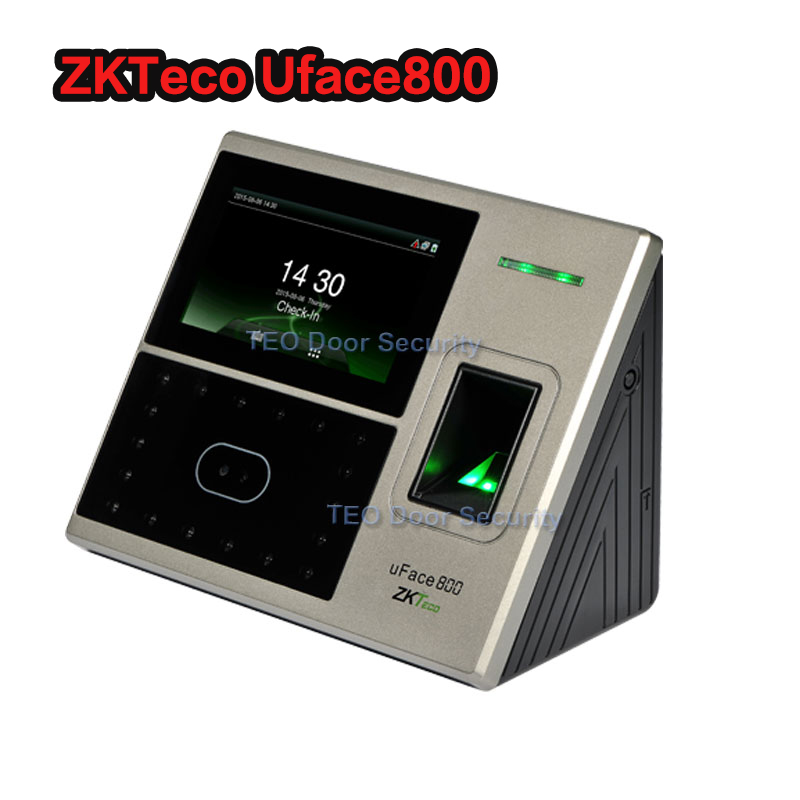 DHL Ship 1200 Face And 2000 Fingerprint Templates Acces Control Face Biometric Attendance System Zkteco Uface800