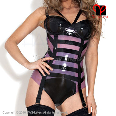 Latex Garters with bra cup Rubber suspender Belt girdle straps Tights High socks Stockings grips Waspie clip plus size XXXL