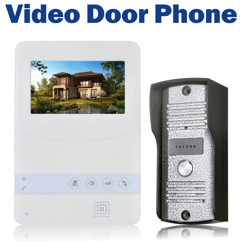 Colorful Video Door Phone Wired 4.3 inch TFT LCD Doorbell 700 TVL IR Camera Video Intercom for Home Security door intercom video cam doorbell door bell with 4 inch tft color monitor 1200tvl camera