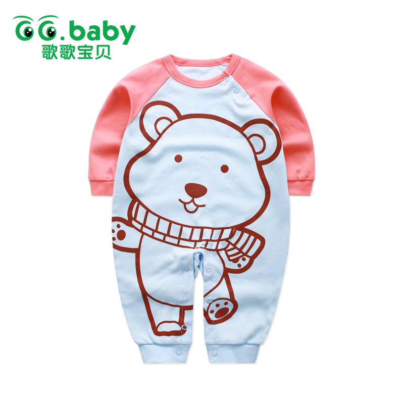New Newborn Baby Girl Rompers Pajamas Long Sleeve Cotton Romper Clothes Baby Jumpsuit For Babies Animal Infant Boy Girl Clothing baby overalls long sleeve rompers clothing cotton dog anima 2017 new autumn winter newborn girl boy jumpsuit hat indoor clothes