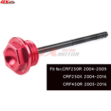 CNC CRF Engine Alloy Oil Dipstick Filter Plugs Fit CRF250R 04-09 CRF250X 04-14 CRF450X 05-14 Dirt Bike Motorcross Motorcycle