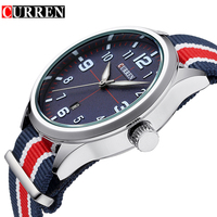 CURREN Top Brand Luxury Watches Sport Men Male Army Clock Canvas Military Business Mens Watches Quartz