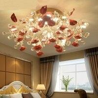 Европейский кристалл потолочный светильник современный простой Керамика Спальня Ресторан Гостиная свет творческий Nordic Crystal Light TA91913