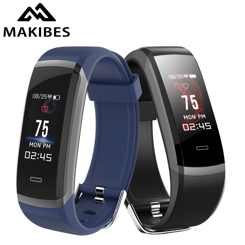 "In stock Makibes HR3 Bracelet Wristband 0.96"" TFT Color Screen Continuous Heart Rate Monitor Health Fitness Tracker Smart Band"