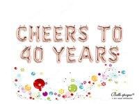 SALUTI A 10 20 30 40 50 60 70 80 90 100 ANNI In Oro Rosa Palloncini Partito Palloncini in Mylar, Shower Balloon, Compleanno, Felice 1ST