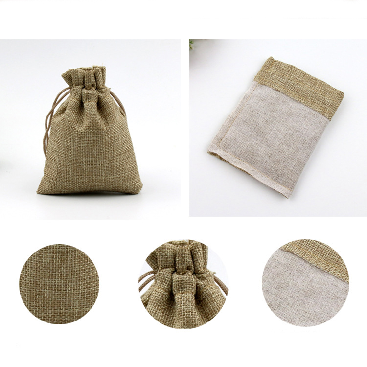 Aliexpress.com : Buy Jute Bags Hessian Hemp Drawstring Bags ...