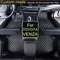 Para Toyota Venza 2014 ~ Tapetes de Carro estilo Do Carro Pé Tapetes Tapetes de Automóveis Personalizados Feitos Sob Medida