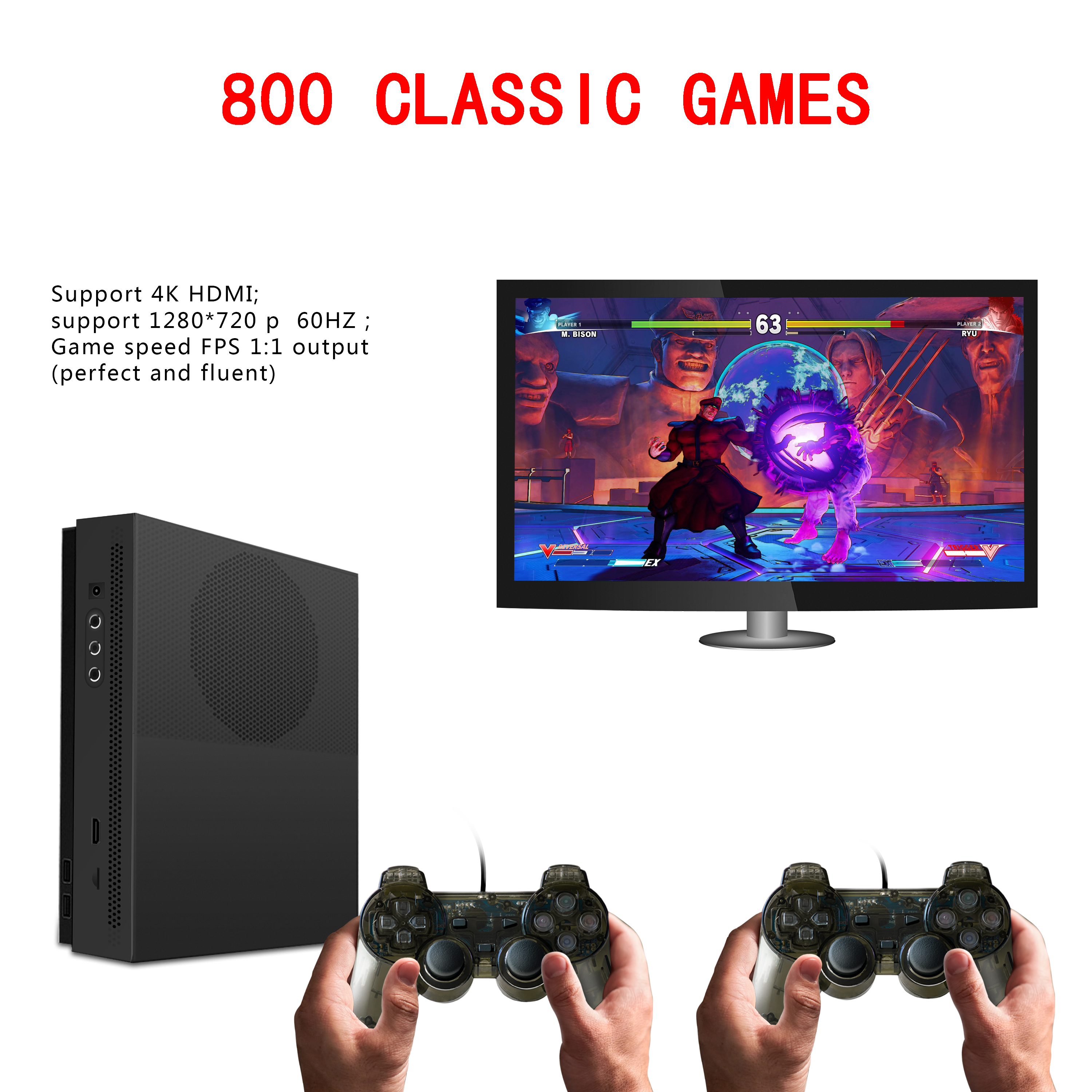 HD Video Game Console 64 Bit snes sega 4K HDMI Output Retro 800 Classic Family Retro Video Games To TV with 32G XPRO joystick