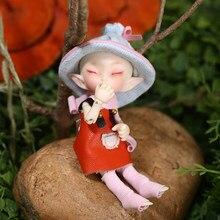Frete grátis fairyland fl realpuki roro boneca bjd 1/13 rosa sorriso elfos brinquedos presente de aniversário