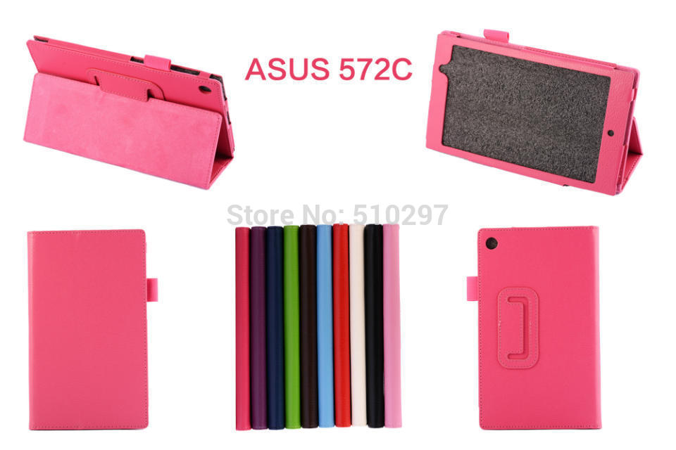 Litchi Magnetic PU Leather Stand Folding Folio Tablet Case Cover For ASUS Memo Pad 7 ME572C ME572CL ME572 7 inch folio magnetic stand pu leather cover