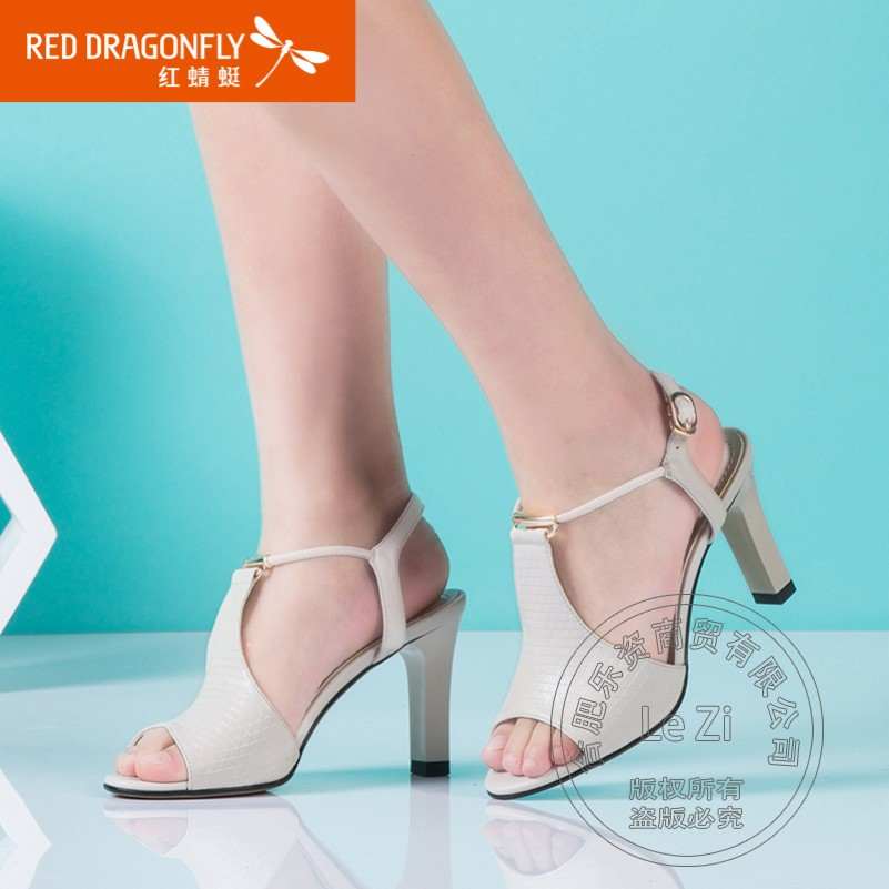 Sheepskin Deodorant Office Style Soft Leather Anti Slip Charm T Strap Fish Mouth Shoes High Heels