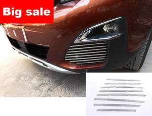 Grille PEUGEOT Trim Strip FOR Fog-Light 3008 Car-Styling Stainless Front GT 16pcs/Set