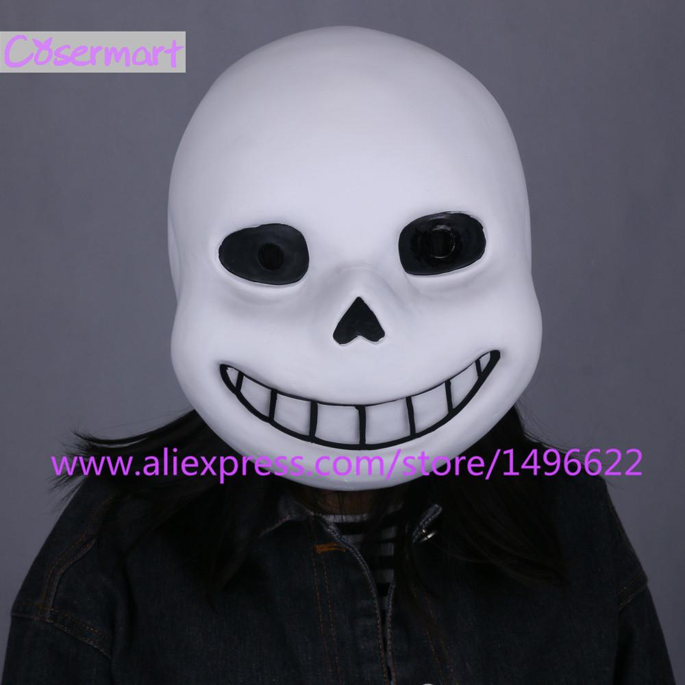 Hot Game Undertale Mask Hard Latex Cosplay Sans Papyrus helmet Full Head Masks Halloween Party Prop (7)