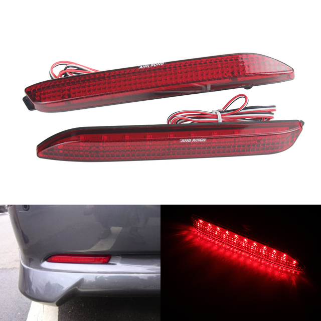 Angrong 2x Red Led Rear Per Reflector Brake Reverse Light For Toyota Avalon Verso Venza Lexus Is F Rx300