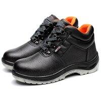 Mężczyźni mody duży rozmiar oddychające obuwie ochronne anty przebicie stalowymi noskami pracy płyta platformy oprzyrządowanie kostki buty bezpieczeństwa