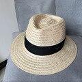 Nuevo sombrero pequeños corazones con lino, OLLAS corona sombrero ancho del sol del borde M los sombrero de paja en Europa y la playa del hombre del sombrero