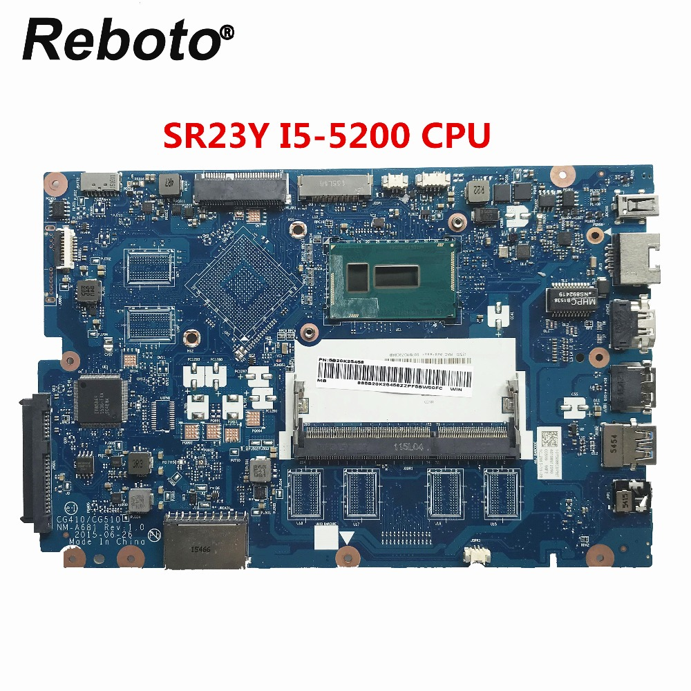 Reboto สำหรับ Lenovo 100 15IBD แล็ปท็อป 5B20K25458 CG410/CG510 NM A681 SR23Y I5 5200U DDR3L MB 100% ทดสอบ Fast Ship-ใน แผงวงจรหลัก จาก คอมพิวเตอร์และออฟฟิศ บน AliExpress - 11.11_สิบเอ็ด สิบเอ็ดวันคนโสด 1