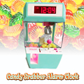 Free Shipping 1Piece Candy Grabber Alarm Clock Catcher Alarm Clock Retro Carnival Fun Mini Arcade Electronic Crane Claw Game