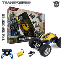 Big Size 2.4G 4CH 4WD Remote Control transformer bee RC Twist stunt Car 75 degree slope Drive Double Side Drive cars toy gifts
