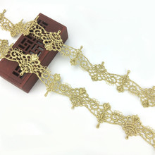 Applique Dress Lace-Chain-Accessories Lace-Trim Gold Embroidery Gold-Thread Royal Wedding