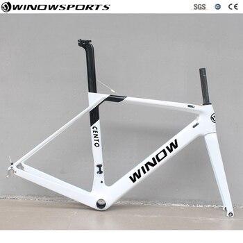 Cuadro de la bicicleta de carbono súper ligero XS S M L XLcarbon aero cuadro de carbono para carretera Marco de carretera de carreras + horquilla + auriculares