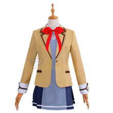 Hina Logic From Luck Niina Arekusandorovuna School Uniform Coat Shirt Dress Outfit Anime Cosplay Costumes