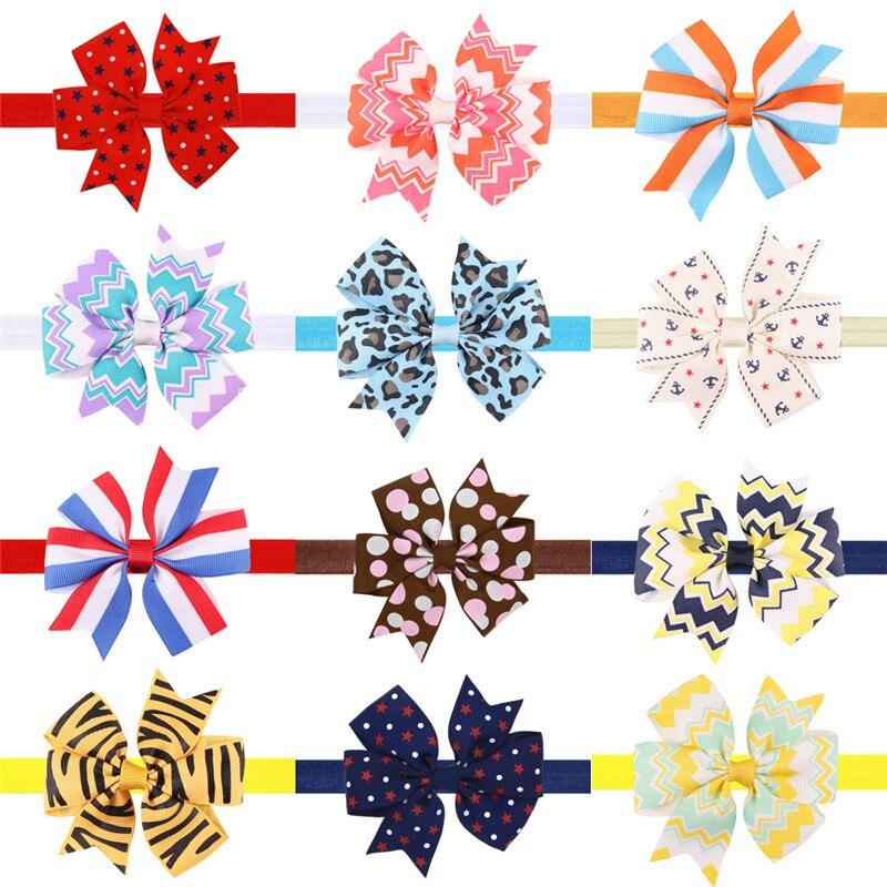 1pcs stripe star elastic bands
