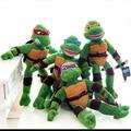 4 шт./лот 28 см Черепахи Плюшевые Игрушки Куклы Бесплатная Доставка