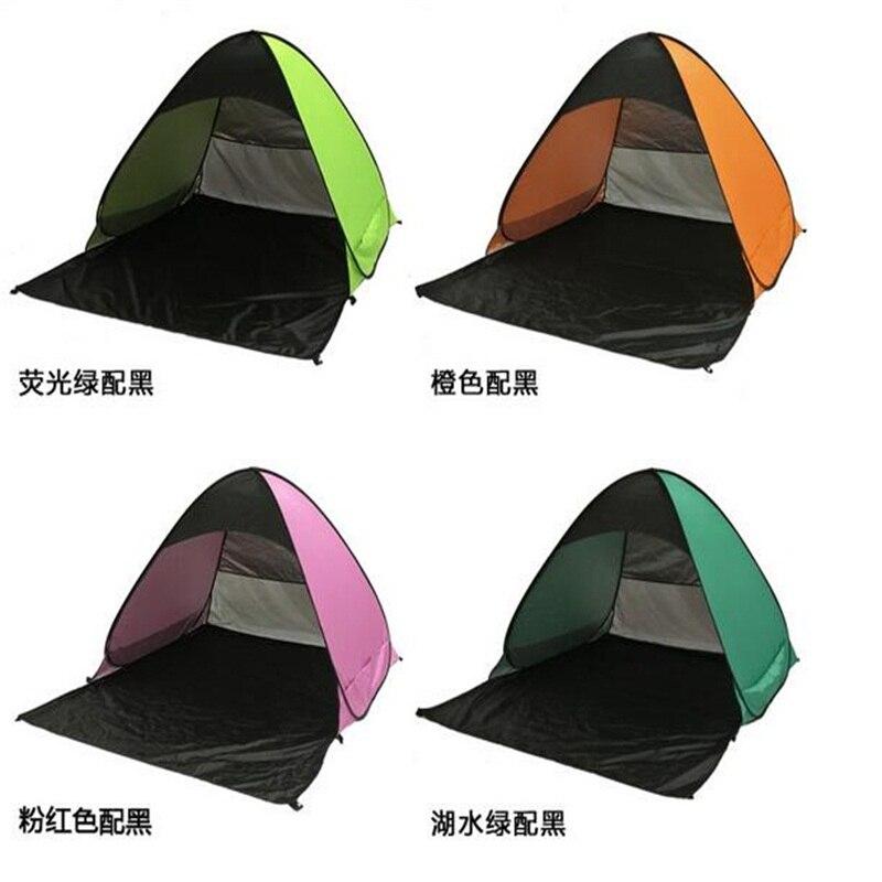 190 T imperméable à l'eau Polyester tissu Anti-UV Gazebos entièrement automatique Camping plage ombre tentes