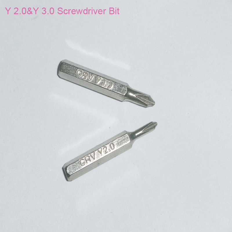 2.0 Y 3.0 Y Screwdriver Bit for Apple laptop batteries that use for Apple Tool 922-8991 Wii NDSL GBA SP Repair Tool bit, One Set