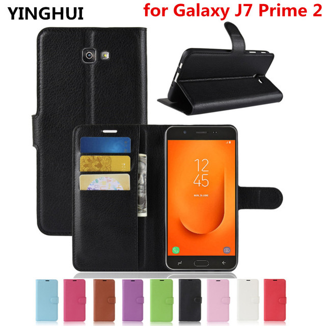on sale 49df7 5e84b US $4.99 |For Samsung Galaxy J7 Prime 2 G611F Case 5.5'' PU Leather Case  for Samsung J7 Prime 2 Cover with Stand Card Slot Phone Cases-in Flip Cases  ...
