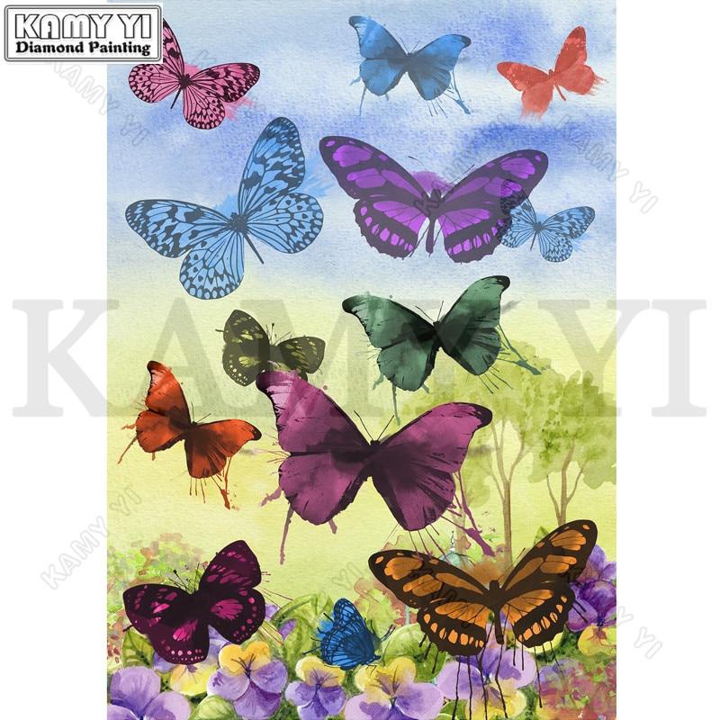 Full Drill Square/Round Diamond 5D DIY Diamond Painting Embroidery Cross Stitch Butterflies Rhinestone Mosaic Painting Decor